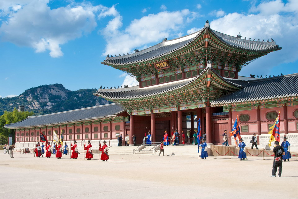 Gyeongbok Palace in Seoul, South Korea